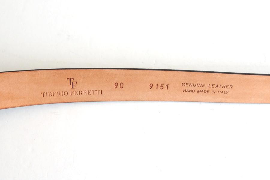 ティベリオ・フェレッティ|TIBERIO FERRETTI|チャッパ スエード コードバン加工 ベルト|9151|90|ブラウンイメージ07