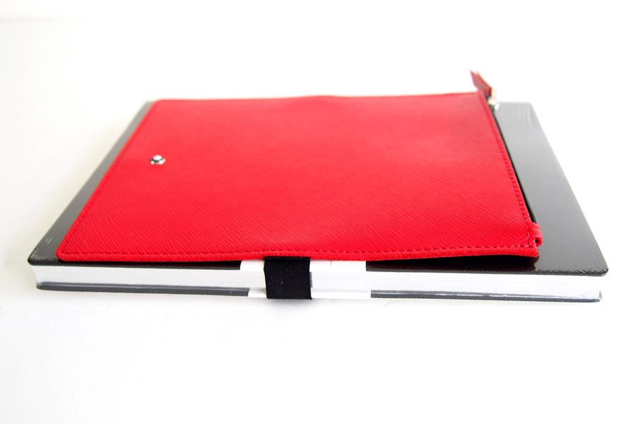 モンブラン|MONTBLANC|ノートブック No.146(ブラック)+パスパルトゥールポケット(レッド)イメージ07
