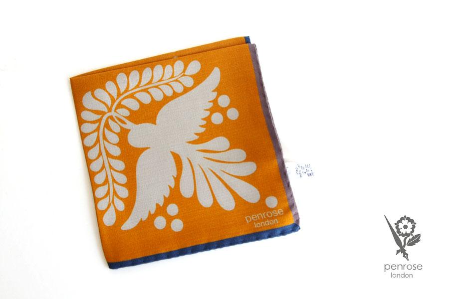 ペンローズ penrose_london ポケットチーフ オレンジイメージ01