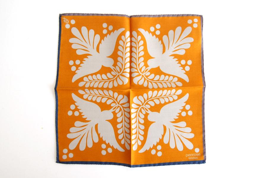 ペンローズ penrose_london ポケットチーフ オレンジイメージ02