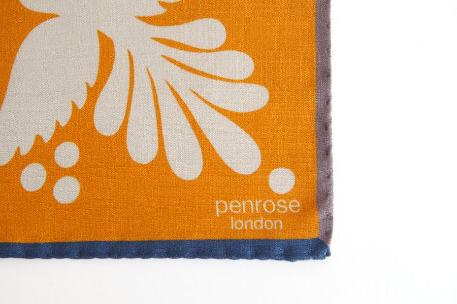 ペンローズ penrose_london ポケットチーフ オレンジイメージ03