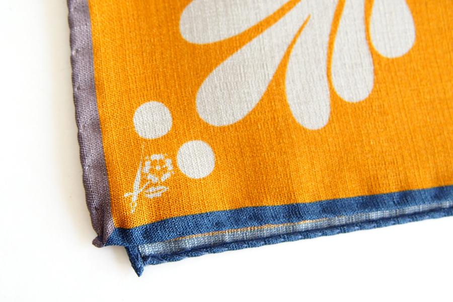 ペンローズ penrose_london ポケットチーフ オレンジイメージ05