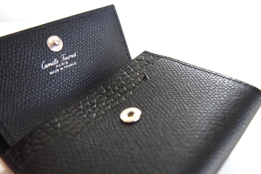 カミーユ・フォルネ Camille Fournet 多機能コインケース カード収納可能 グレインレザーイメージ07