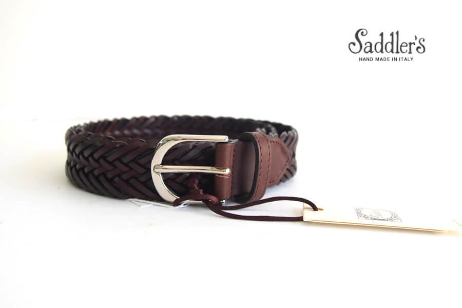 サドラーズ Saddler's レザーメッシュベルト G457 ブラウン Lイメージ01