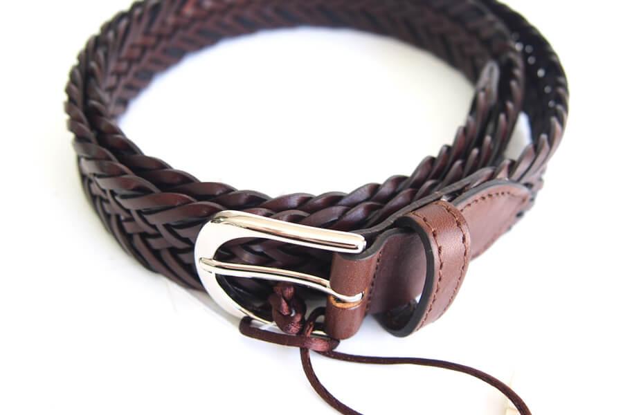 サドラーズ Saddler's レザーメッシュベルト G457 ブラウン Lイメージ02