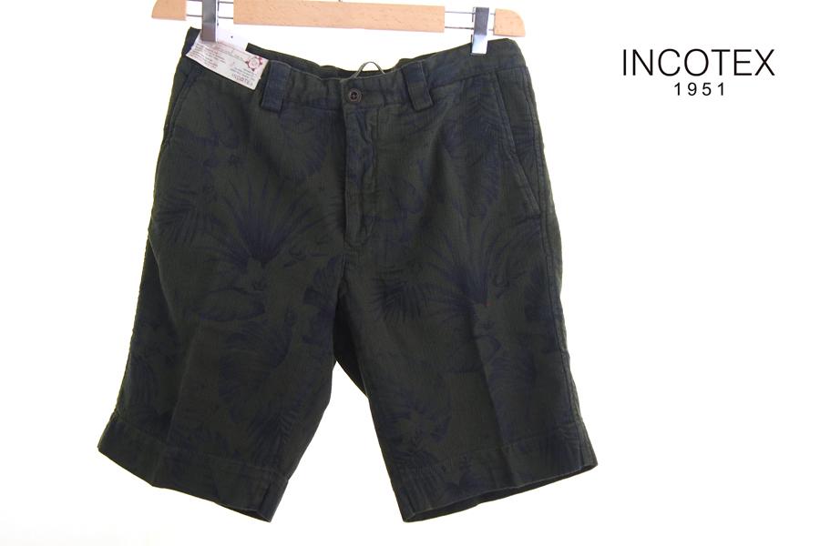 インコテックス INCOTEX ボタニカル柄ショートパンツイメージ01