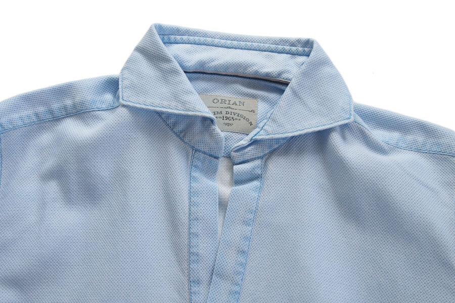 オリアン ORIAN プルオーバーメッシュシャツ JD30F ライトブルー イメージ05