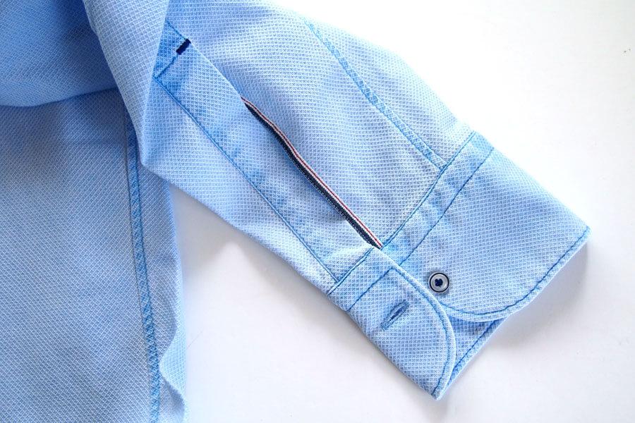 オリアン ORIAN プルオーバーメッシュシャツ JD30F ライトブルー イメージ07