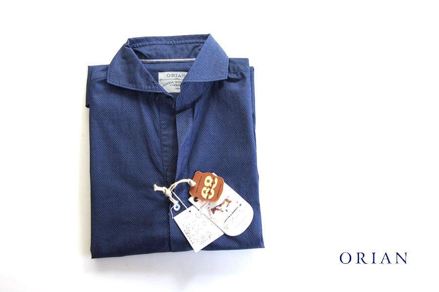 オリアン ORIAN プルオーバーシャツ JD30F ネイビー Sイメージ01