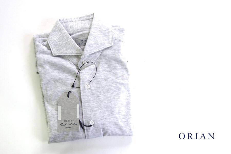 オリアン ORIAN ジャージーシャツ FLUID EVOLUTION SLIM FIT YJ91 ライトグレイ S イメージ01