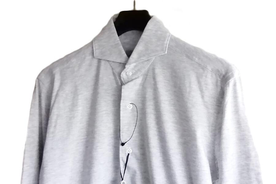 オリアン ORIAN ジャージーシャツ FLUID EVOLUTION SLIM FIT YJ91 ライトグレイ S イメージ03
