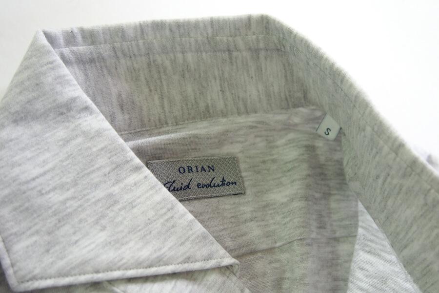 オリアン ORIAN ジャージーシャツ FLUID EVOLUTION SLIM FIT YJ91 ライトグレイ S イメージ06