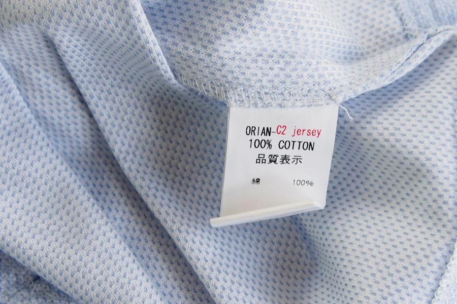 オリアン ORIAN ジャージー半袖シャツ FLUID EVOLUTION ライトブルー Sイメージ04