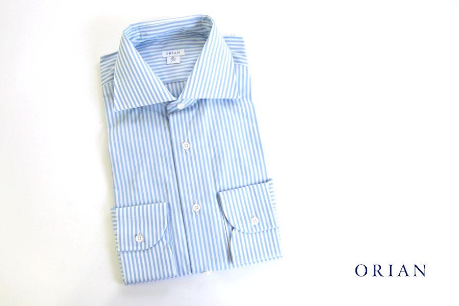 オリアン ORIAN ワイドカラーストライプシャツ スリムフィット 39イメージ01