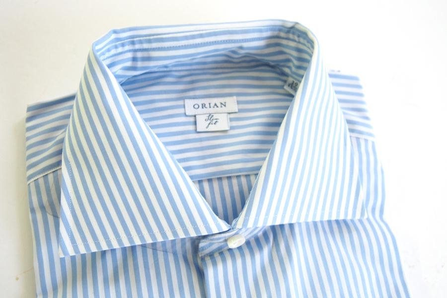 オリアン ORIAN ワイドカラーストライプシャツ スリムフィット 39イメージ02