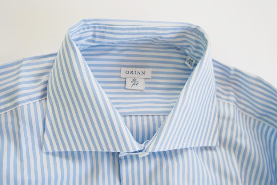 オリアン ORIAN ワイドカラーストライプシャツ スリムフィット 39イメージ03