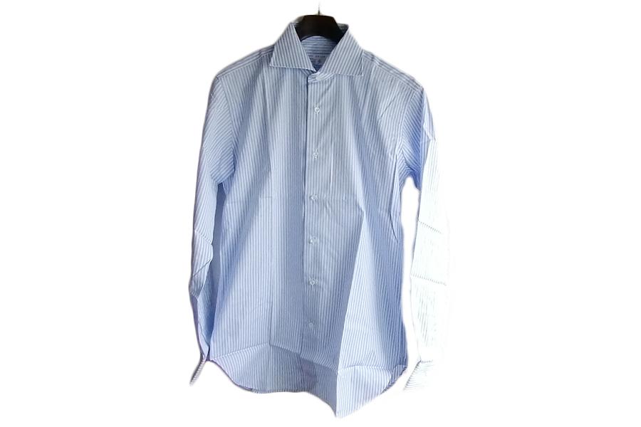 オリアン ORIAN ワイドカラーストライプシャツ スリムフィット 39イメージ06