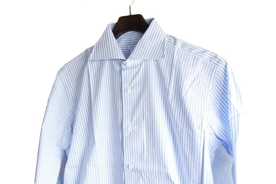 オリアン ORIAN ワイドカラーストライプシャツ スリムフィット 39イメージ07
