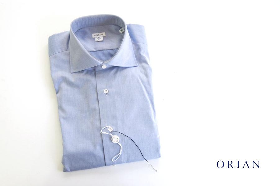 オリアン|ORIAN|ワイドカラーシャツ|スリムフィット|ライトブルー|39イメージ01