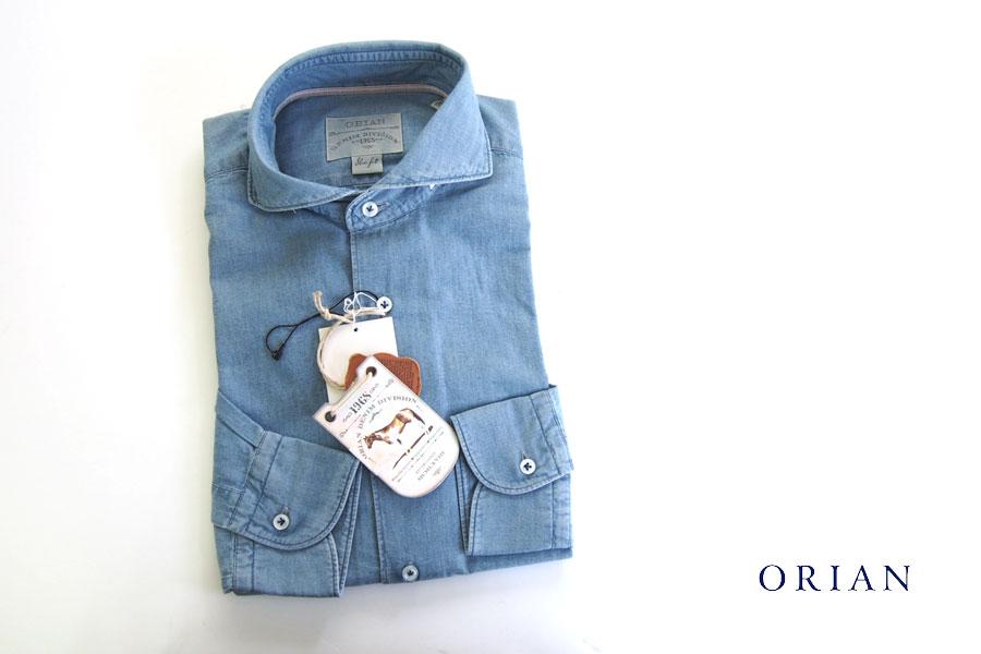 オリアン ORIAN シャンブレーシャツ デニムディヴィジョン YD91 SLIM FIT 39イメージ01