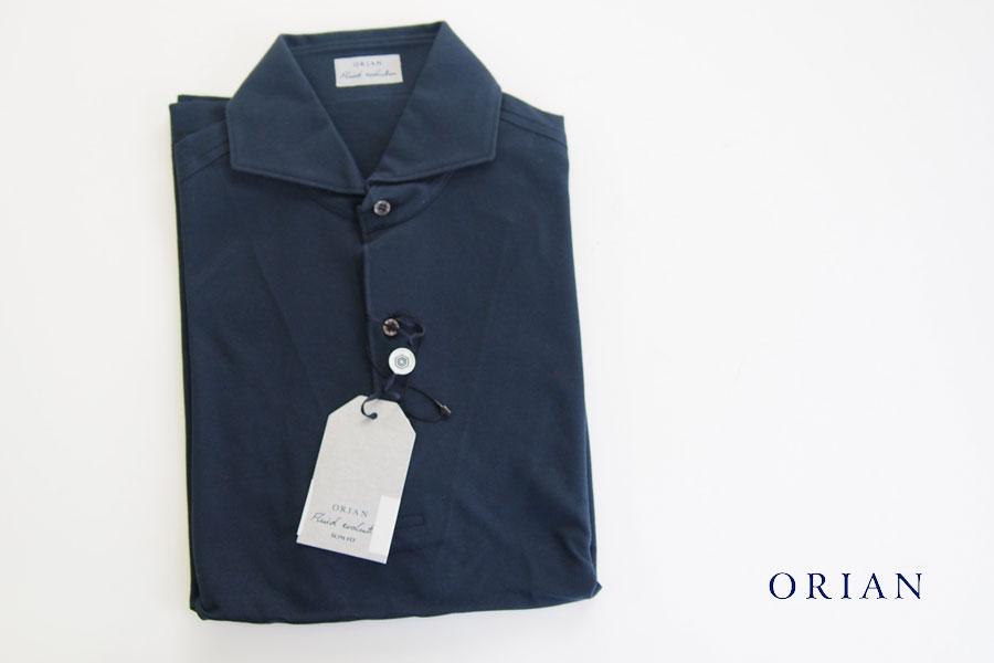 オリアン ORIAN 鹿の子半袖ポロシャツ Mot791 ネイビー S イメージ01
