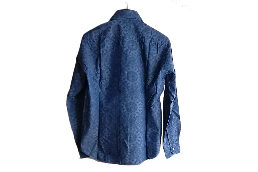 オリアン ORIAN シャンブレープリントシャツ デニムディヴィジョン YD91 SLIM FIT ブルー Mイメージ08