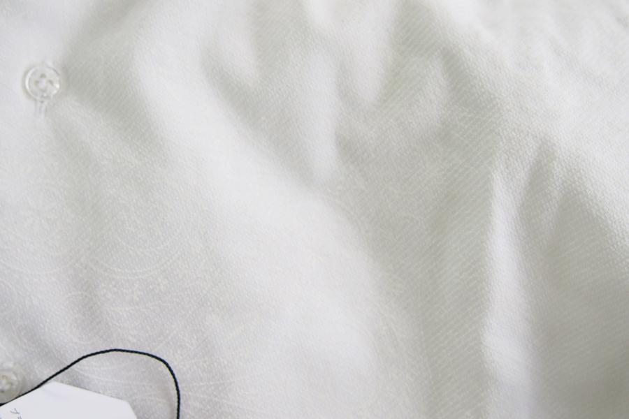 オリアン|ORIAN|ジャージーペイズリー柄シャツ|FLUID EVOLUTION|YJ91|ホワイト|Sイメージ04