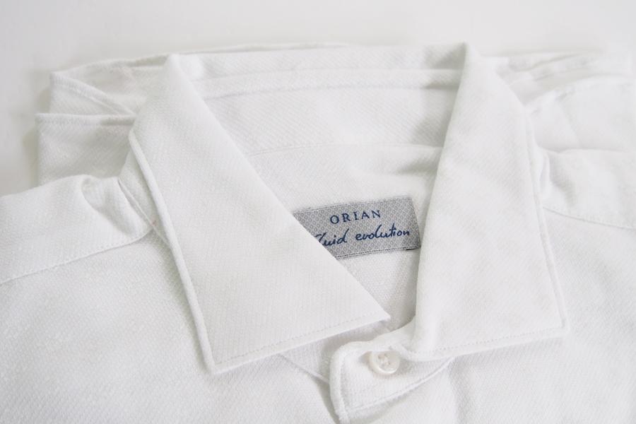 オリアン|ORIAN|ジャージー小紋柄シャツ|FLUID EVOLUTION|SLIM FIT|ホワイト|YJ85|Sイメージ02