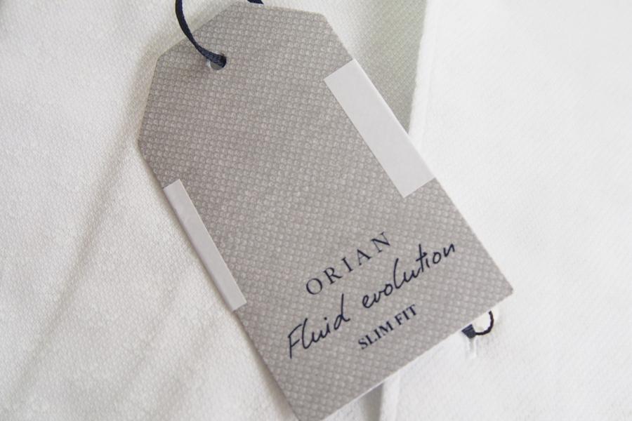 オリアン|ORIAN|ジャージー小紋柄シャツ|FLUID EVOLUTION|SLIM FIT|ホワイト|YJ85|Sイメージ04
