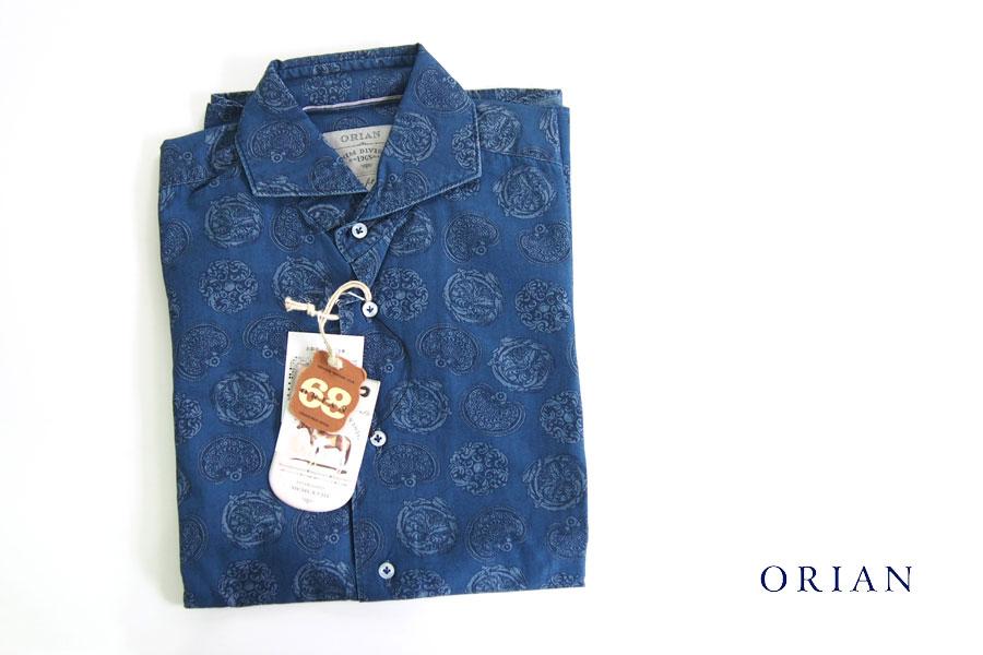 オリアン|ORIAN|シャンブレープリントシャツ|デニムディヴィジョン|YD91|SLIM FIT|Mイメージ01