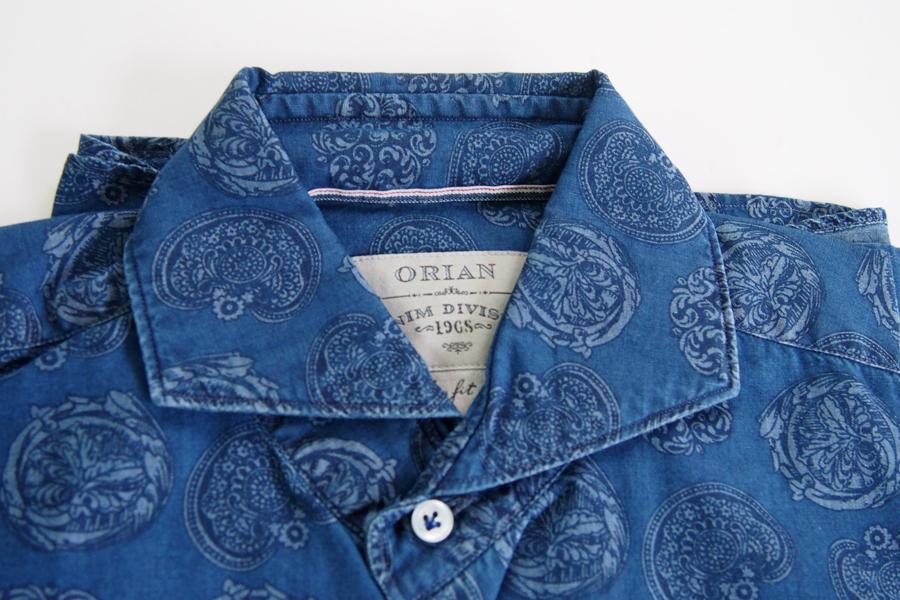 オリアン|ORIAN|シャンブレープリントシャツ|デニムディヴィジョン|YD91|SLIM FIT|Mイメージ02