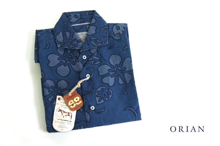 オリアン|ORIAN|シャンブレーハイビスカスプリントシャツ|デニムディヴィジョン|YD91|SLIM FIT|Mイメージ01