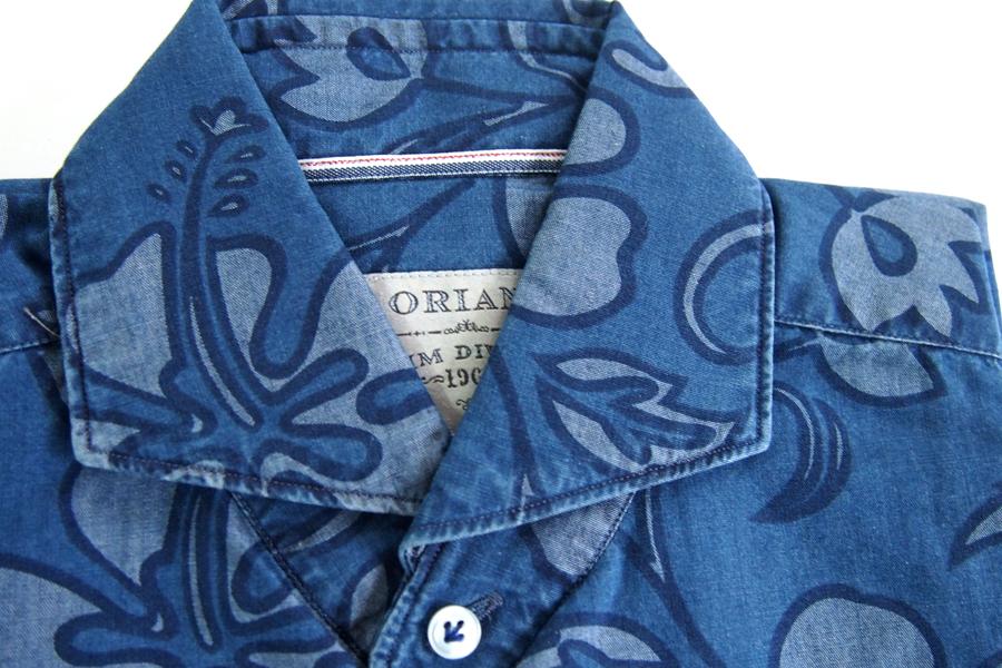 オリアン|ORIAN|シャンブレーハイビスカスプリントシャツ|デニムディヴィジョン|YD91|SLIM FIT|Mイメージ03