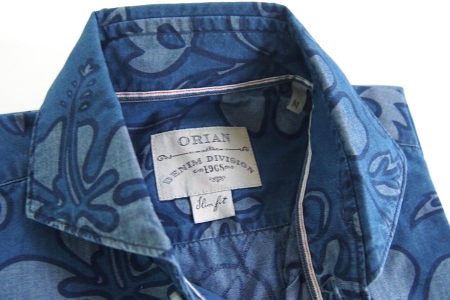 オリアン|ORIAN|シャンブレーハイビスカスプリントシャツ|デニムディヴィジョン|YD91|SLIM FIT|Mイメージ04