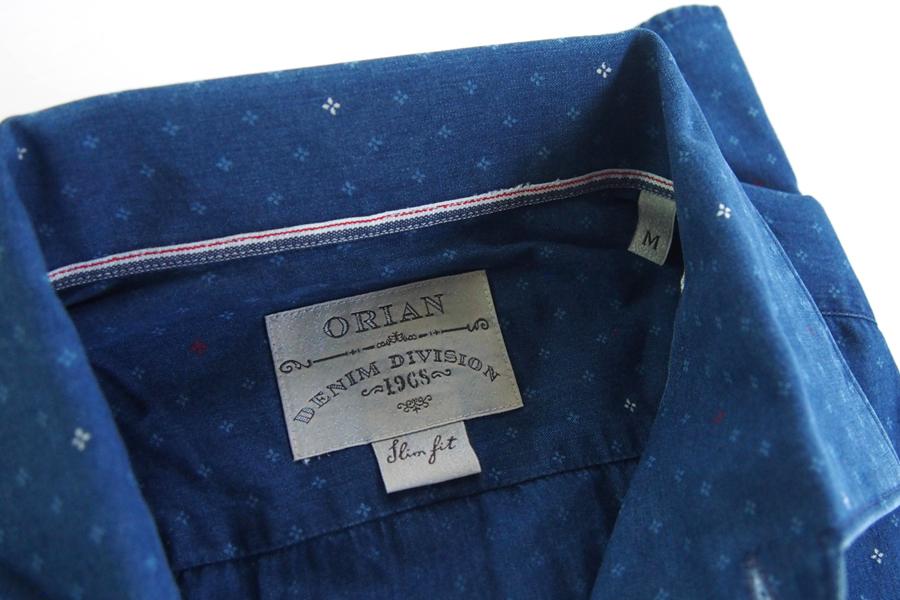 オリアン|ORIAN|シャンブレー小紋柄プリントシャツ|デニムディヴィジョン|SLIM FIT|0D14|Mイメージ03