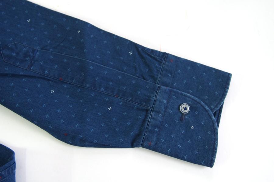 オリアン|ORIAN|シャンブレー小紋柄プリントシャツ|デニムディヴィジョン|SLIM FIT|0D14|Mイメージ04