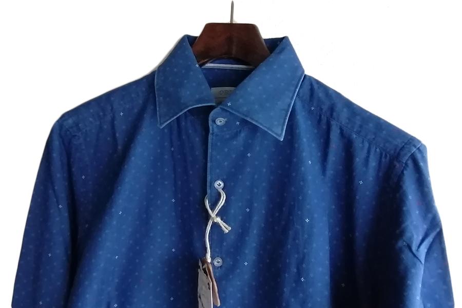 オリアン|ORIAN|シャンブレー小紋柄プリントシャツ|デニムディヴィジョン|SLIM FIT|0D14|Mイメージ07
