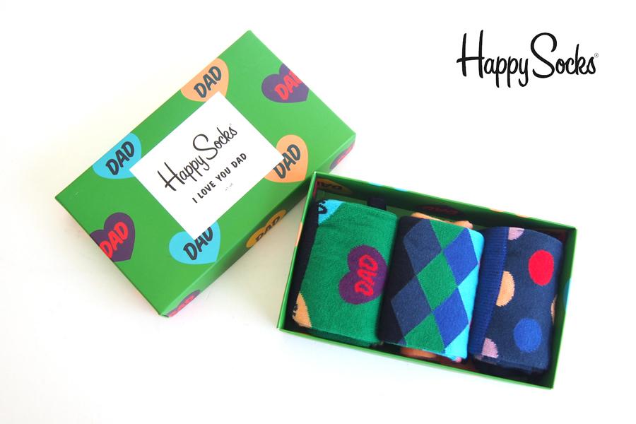 ハッピーソックス|happy socks|ギフトボックス 3足組|Father's Day Gift Box 3-packイメージ01