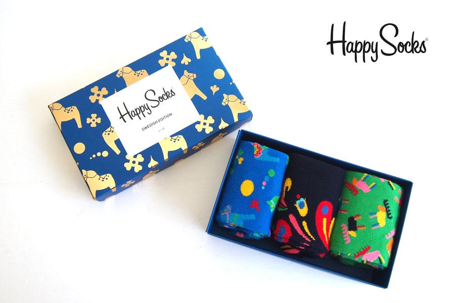 ハッピーソックス happy socks ギフトボックス 3足組 Swedish Edition Gift Box 3-packイメージ01